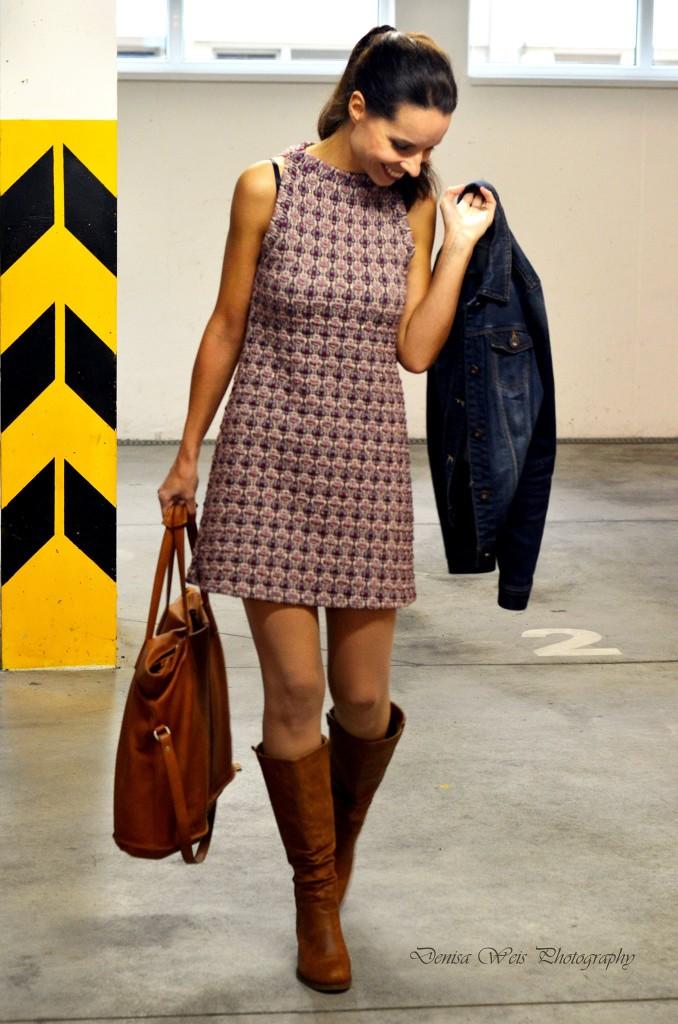 Jacquard Mini Dress Amp Denim Jacket Tina Chic